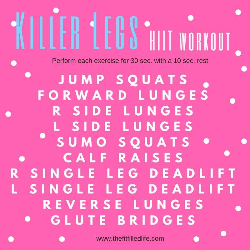 Killer Legs HIIT Workout