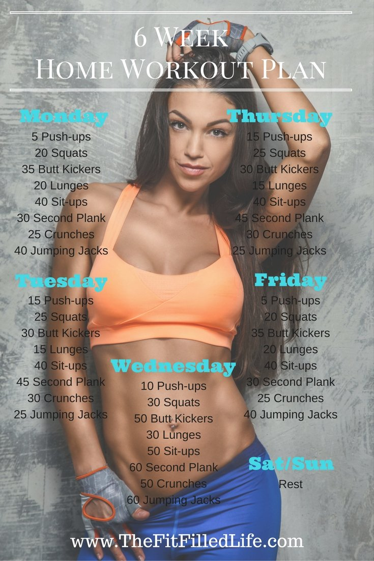 6 Week Home Workout Plan