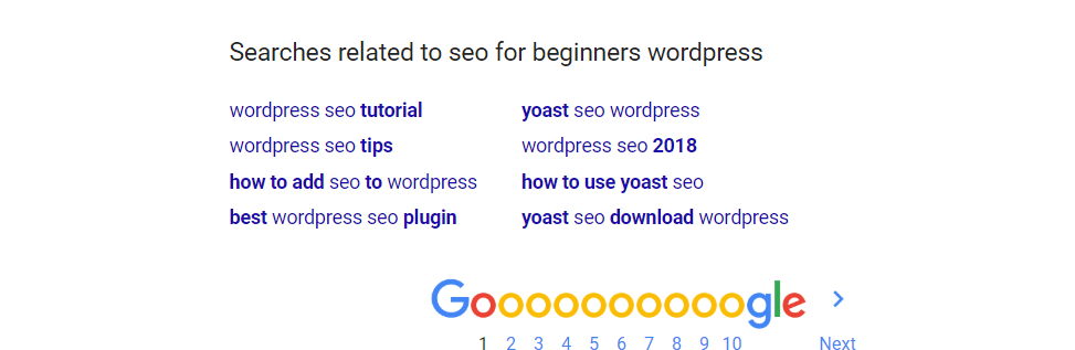 Related Google Searches for Keyword Research