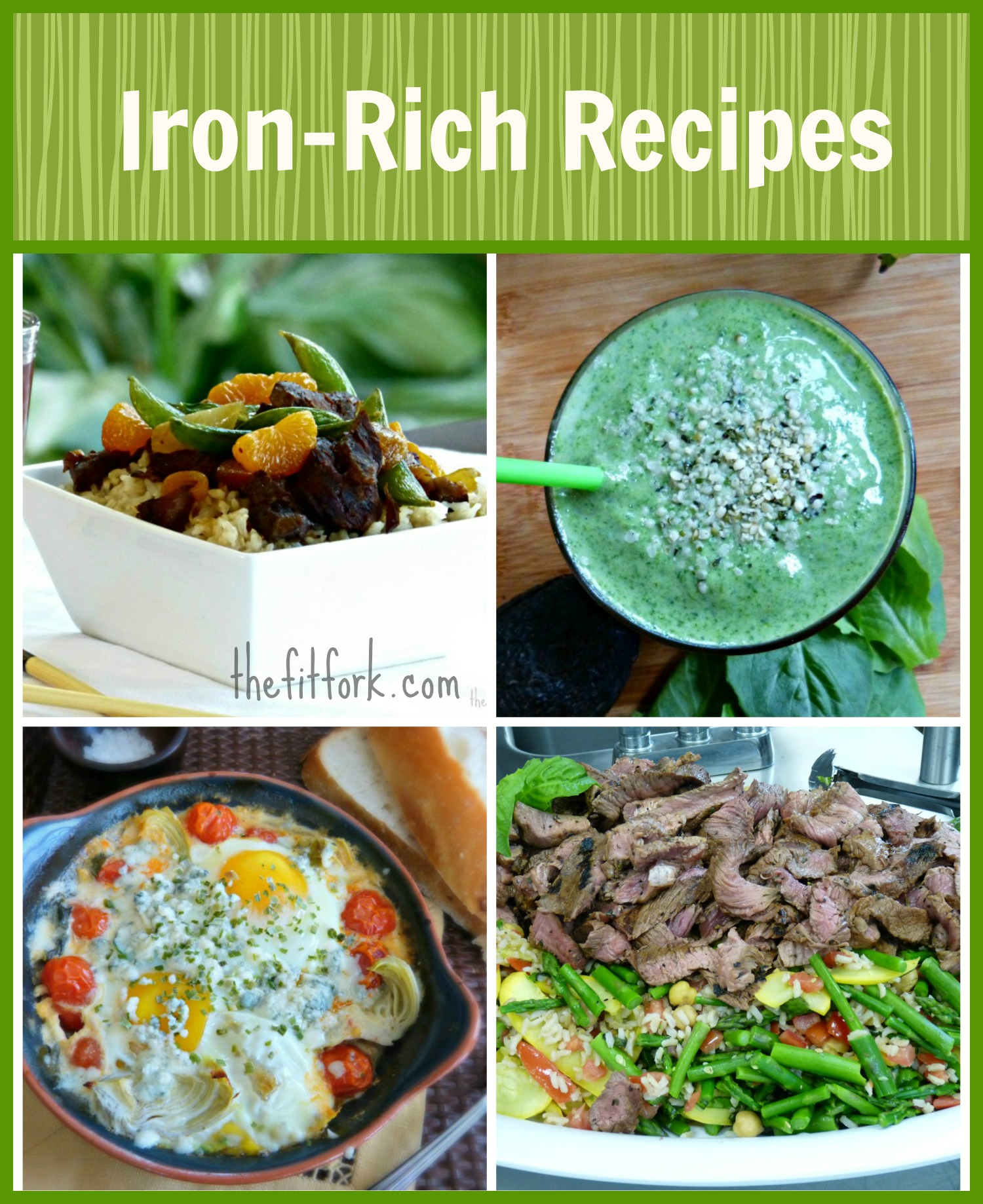 foods high in iron for anemia rich recipes thefitfork