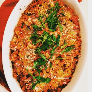 Busy Moms Boozy Baked Pasta