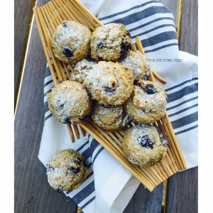 Blueberry Protein Muffins with Zucchini & Spelt Flour (Wheat, Dairy, Nut, and Refined Sugar Free)