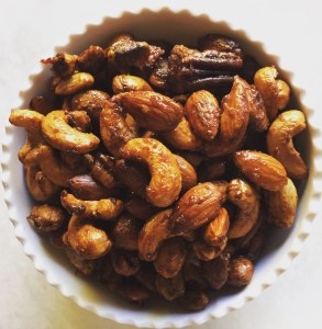 Sticky Sriracha & Maple Crusted Nuts