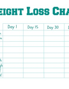 Weight loss goal chart printable weekly template free premium templates also selo  ink rh