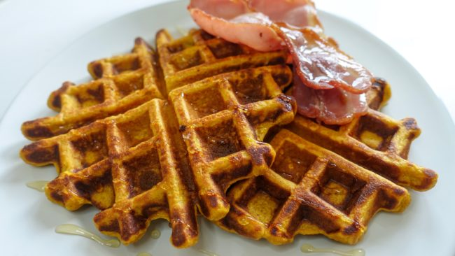 Sweet or savoury healthy sweet potato waffles or pancakes The Fitness Maverick