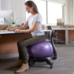 Balance Ball Office Chair Reviews 24 Hour Chairs Wellfit Aligned And Strong For 2019 The Fitness Gaiam Classic