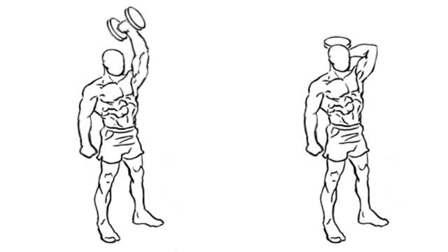 Best Dumbbell Triceps Exercises: One arm triceps extension