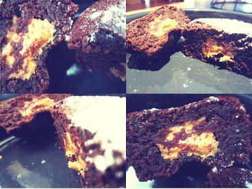 Muffins chocolat au coeur beurre de cacahuète