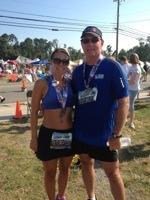 Dad and I, Deltaville 5k 2012