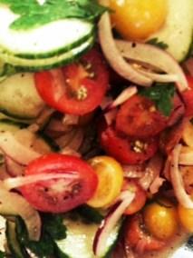 Tomato, Onions, Parsley, Cucumbers