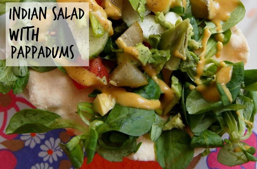 Indian Salad with Pappadums
