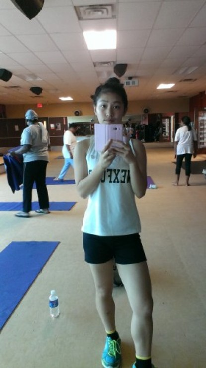 I love a good sweat. I love a good cardio session, even though this was taken right before a slow, bodyflow class.