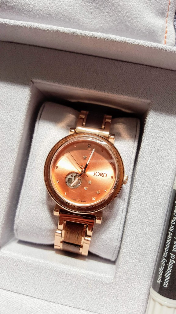 jord rose gold watch