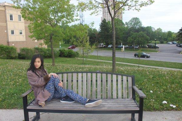 me spring bench park nature