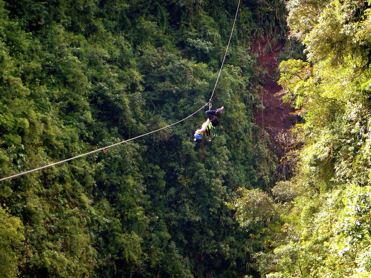 For one round I went doubles with my mom for another round I went superman style and as I said I naturally did a few hanging upside-down. & Canopying through the Jungle