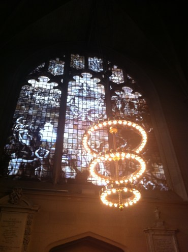 In the chapel of Magdalen College