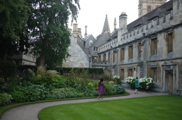 In the ground of Magdalen College