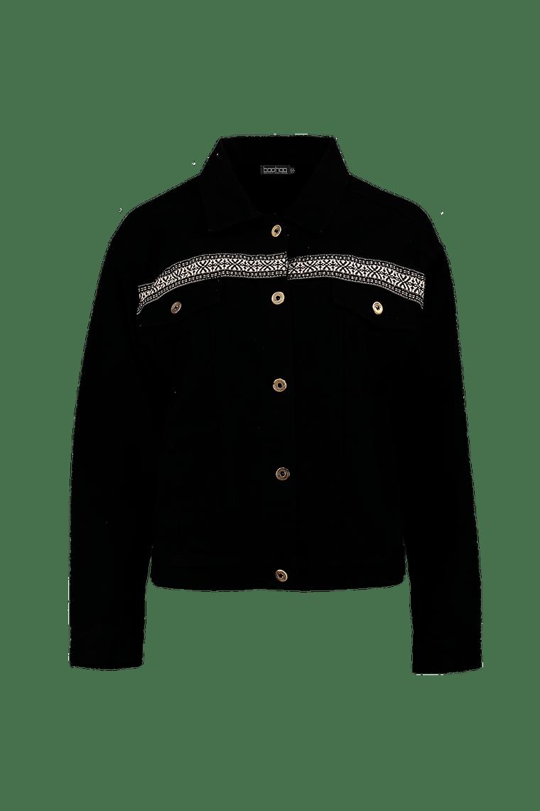 Sally Embroidered Denim Jacket >