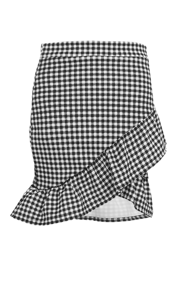Avalon Gingham Mini Skirt >