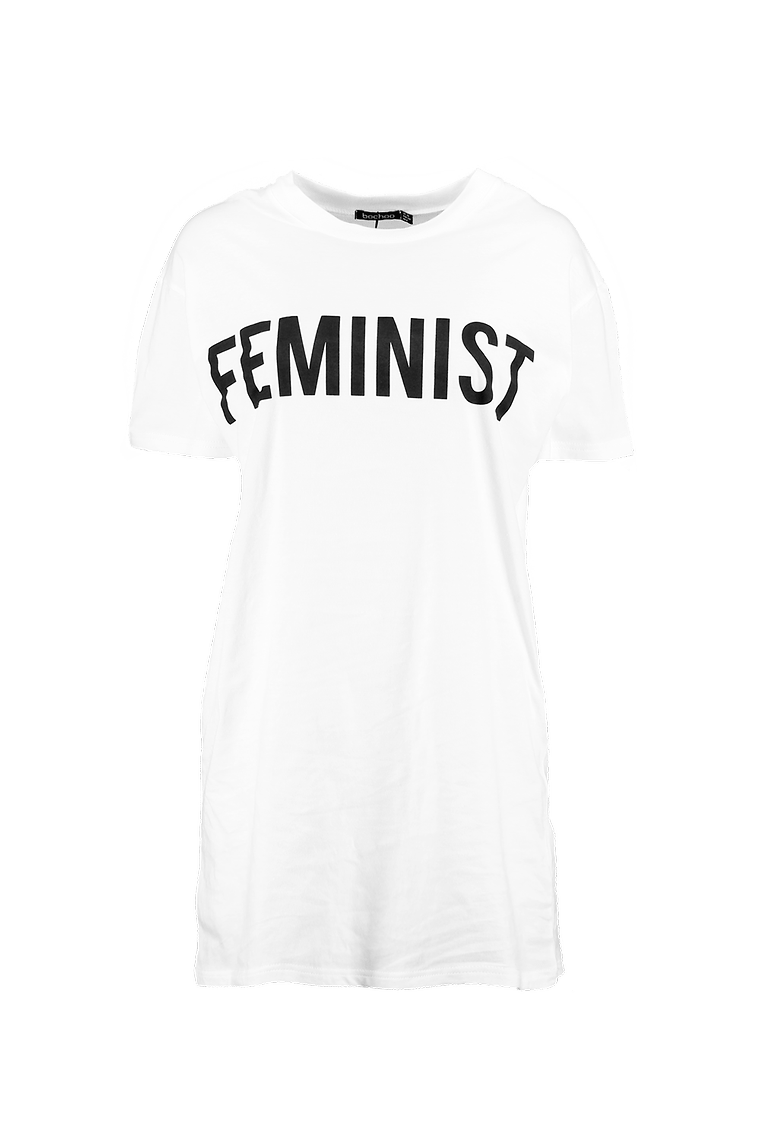 Emma Feminist Slogan T-Shirt Dress