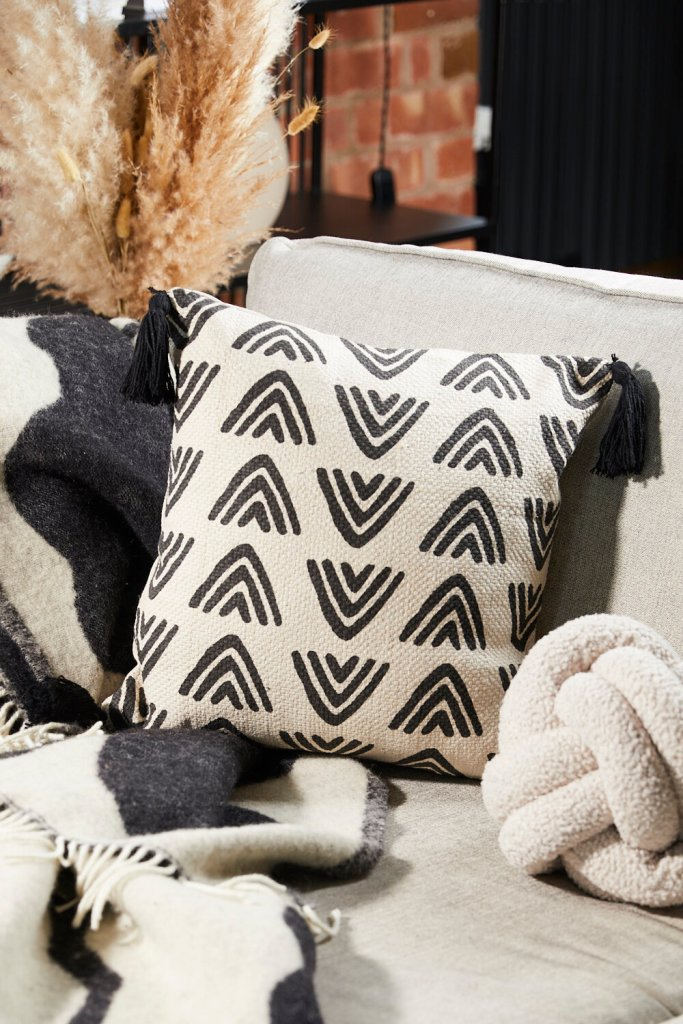 Homeware Geometric Mono Pillow