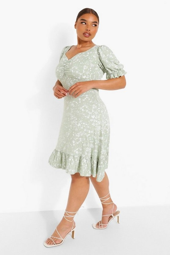 A green midi dress for bottomless brunch