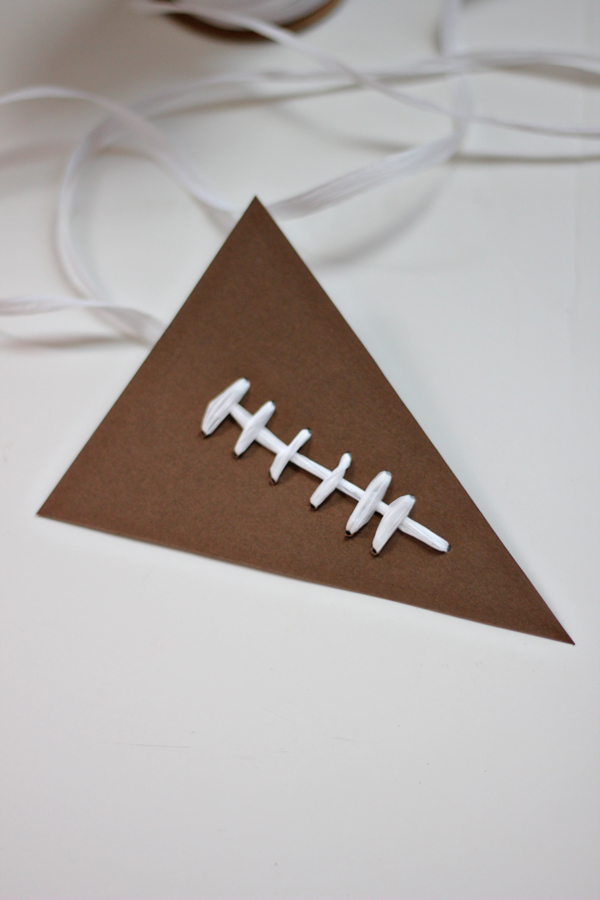 Football Pennant Garland DIY The Flair Exchange®The