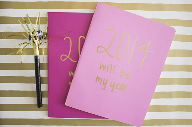 2014 Goal Setting Journal Favor DIY Handmade