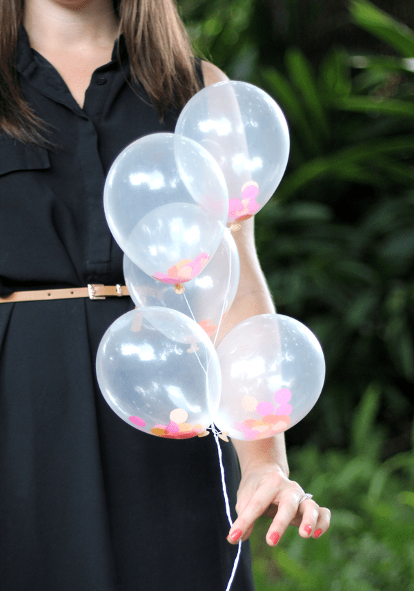 DIY Mini Confetti Filled Balloons The Flair Exchange®The