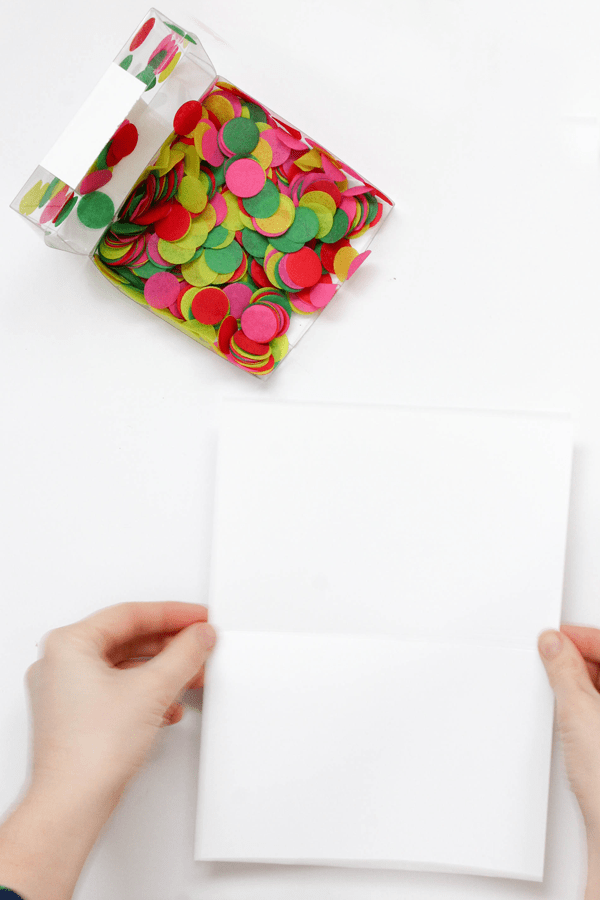 Confetti Filled Christmas Cards The Flair ExchangeThe