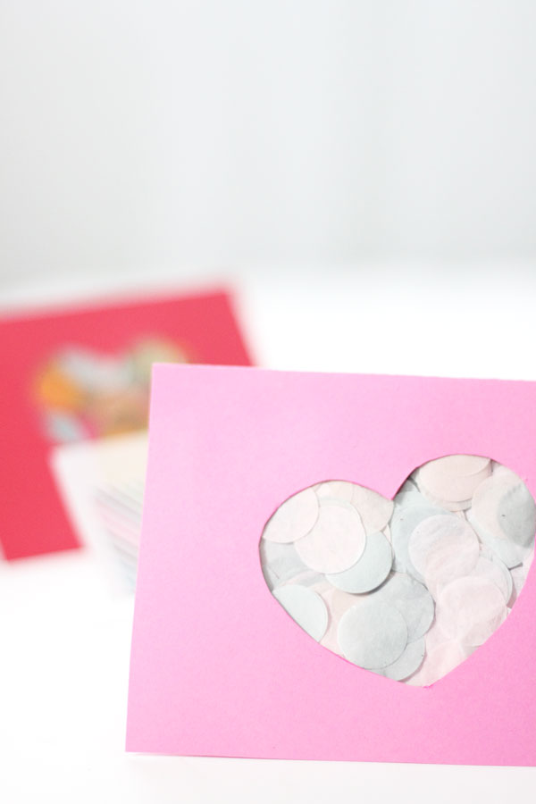 Confetti Cut Out Valentine's Day Card The Flair Exchange