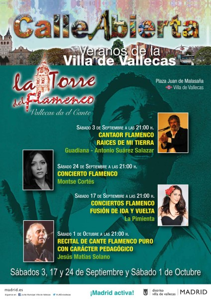 Flamenco Madrid September October - Flyer for La Torre del Flamenco festival
