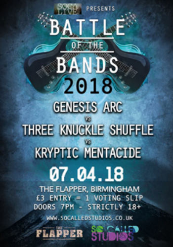 Battle of the Bands: Genesis Arc + Three Knuckle Shuffle + Kryptic Mentacide