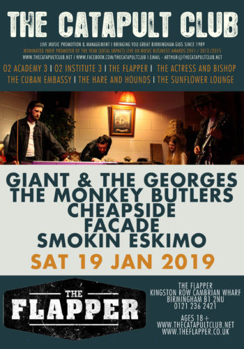Giant & The Georges + The Monkey Butlers + Cheapside + Facade + Smokin Eskimo