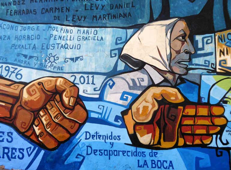 Mothers of the Disappeared - Mural, La Boca