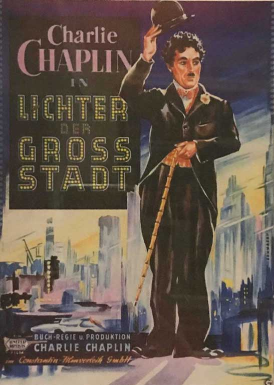 German lobby poster for Chaplin's 'The Greater Dictator' cinema museum london