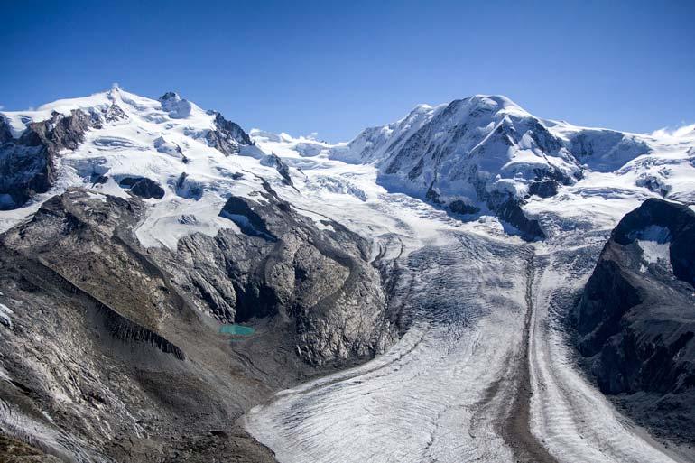Monte Rosa glacier field