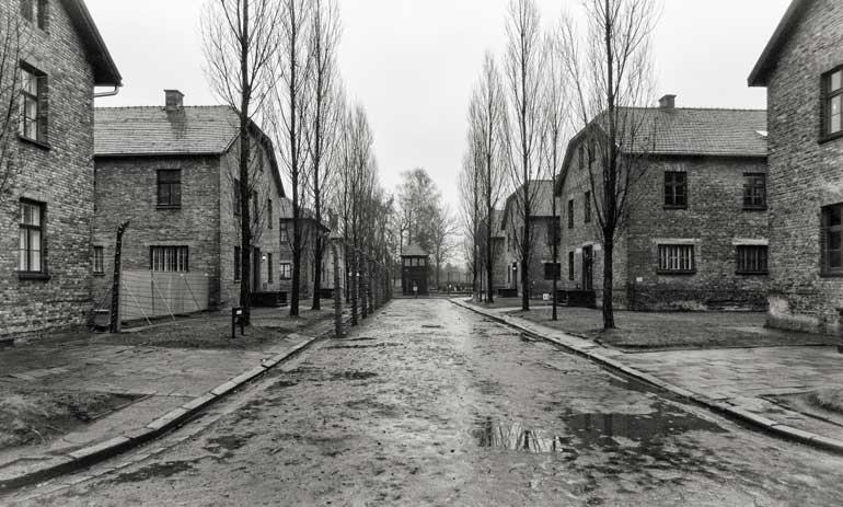 Roll call square: Auschwitz I