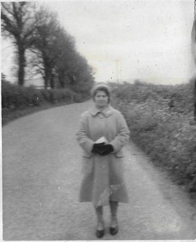 Granny C waiting for a lift into Borris Carlow