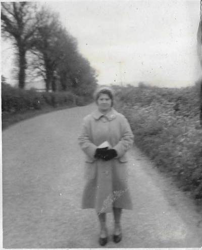 Granny C waiting for a lift into Borris Carlow