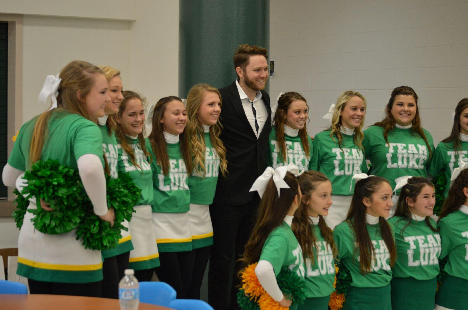 Luke Wade visits Dublin ISD on Thursday, Dec. 4, to celebrate Luke Wade Day. || Photo by Brooke Mendenhall