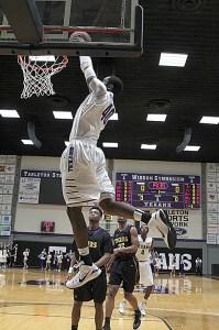 Davene Carter does what he does best - dunk. || Photo courtesy KURT MOGONYE/Tarleton