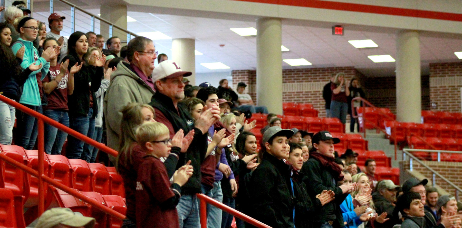 Lingleville fans at Glen Rose Tuesday. || Photo contributed