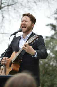 Luke Wade performs for his adoring hometown fans at Wright Historical Park in Dublin. || Photo by BROOKE MENDENHALL