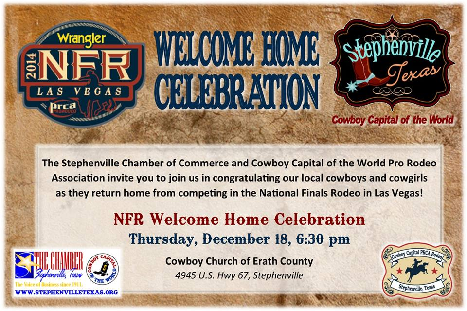 NFR Welcome Home Celebration
