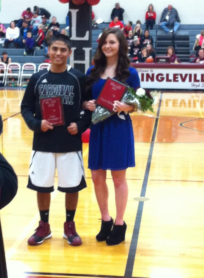 Josh Alvarado and Xequoia Hallmark were named Mr. and Miss LHS during homecoming festivities Friday. || Photo contributed