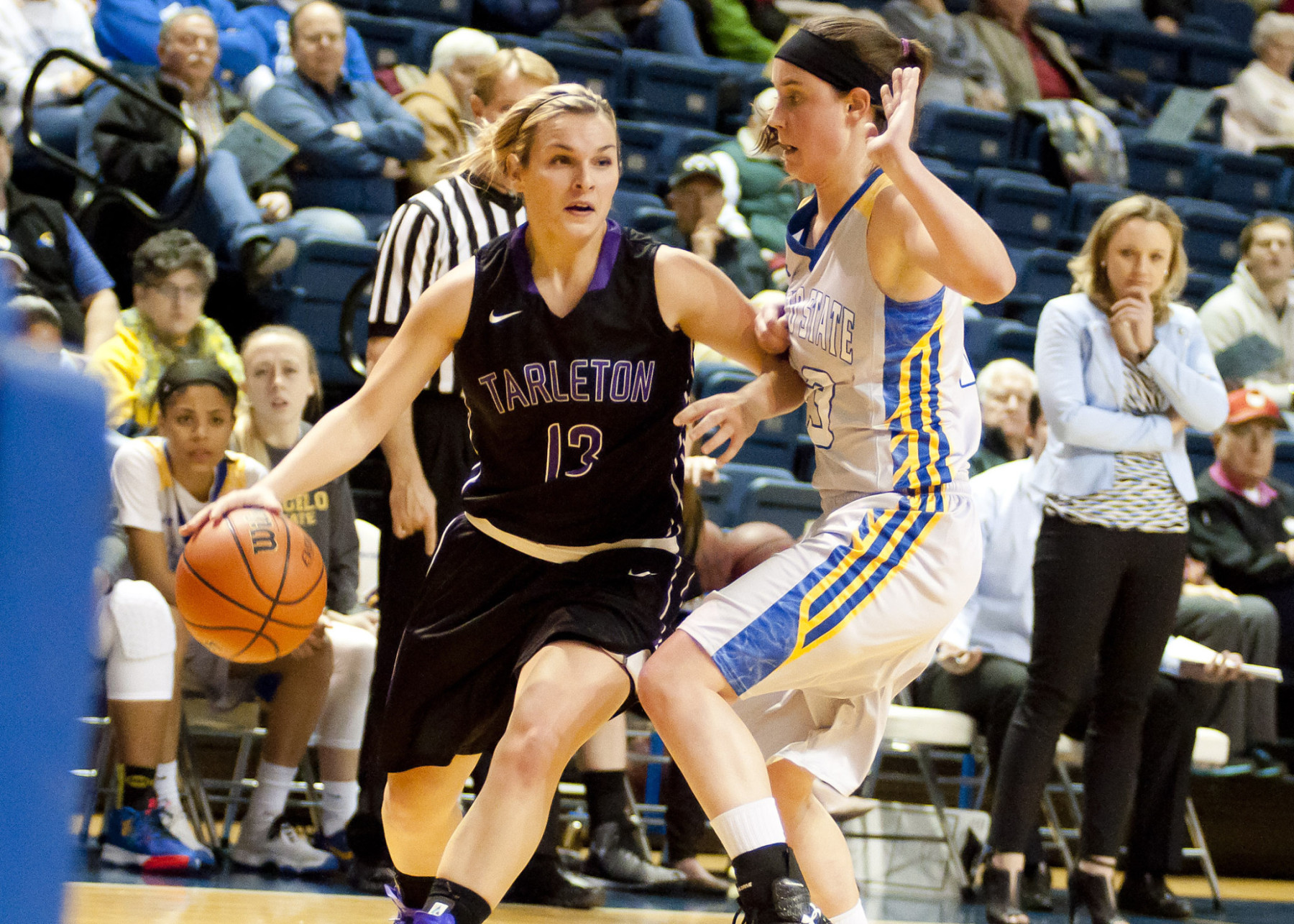 Junior guard Raven McGrath scored a career best 19 points in Tarleton's 81-71 win at Angelo State Wednesday. || Photo courtesy NATHAN BURAL/Tarleton
