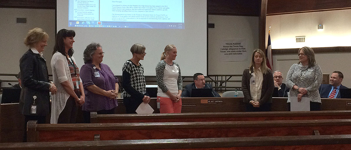Stephenville High School faculty were also recognized.