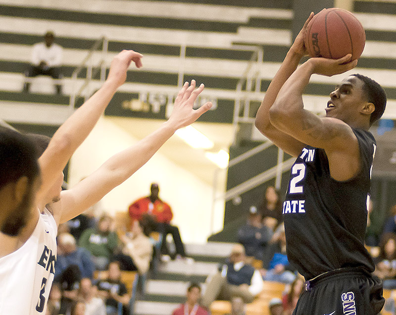Reigning Lone Star Conference Offensive Player of the Week TaShawn Mabry looks to remain hot when the Texans host McMurry Wednesday night.    Photo courtesy NATHAN BURAL/Tarleton