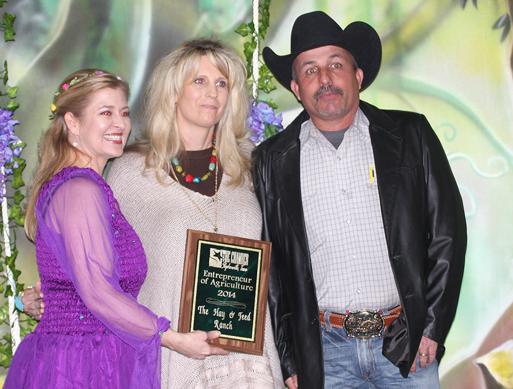 Entrepreneur of the Year Award winner - Nathan and Julie Griffin, Hay and Feed Ranch